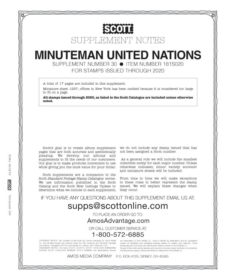 SCOTT UNITED NATIONS MINUTEMAN 2020 #30