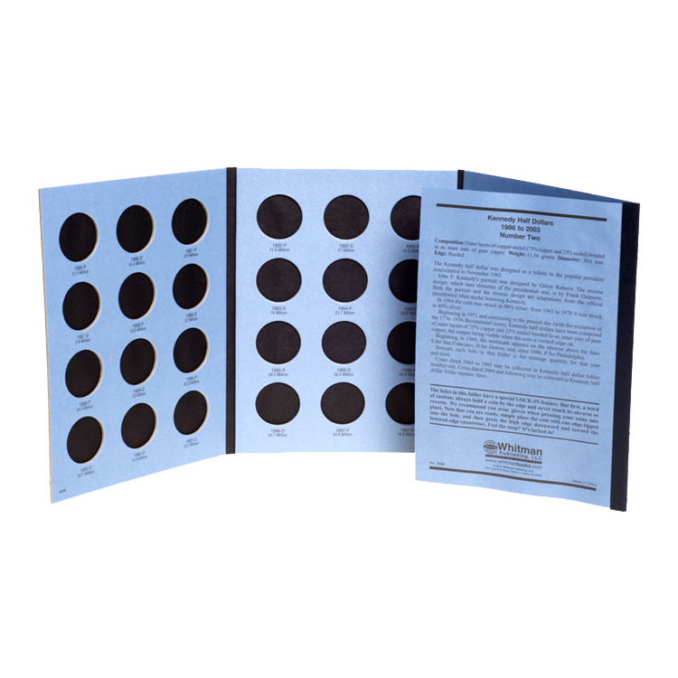 Whitman Kennedy Half Dollars 1986-2003 (Vol. 2) Folder