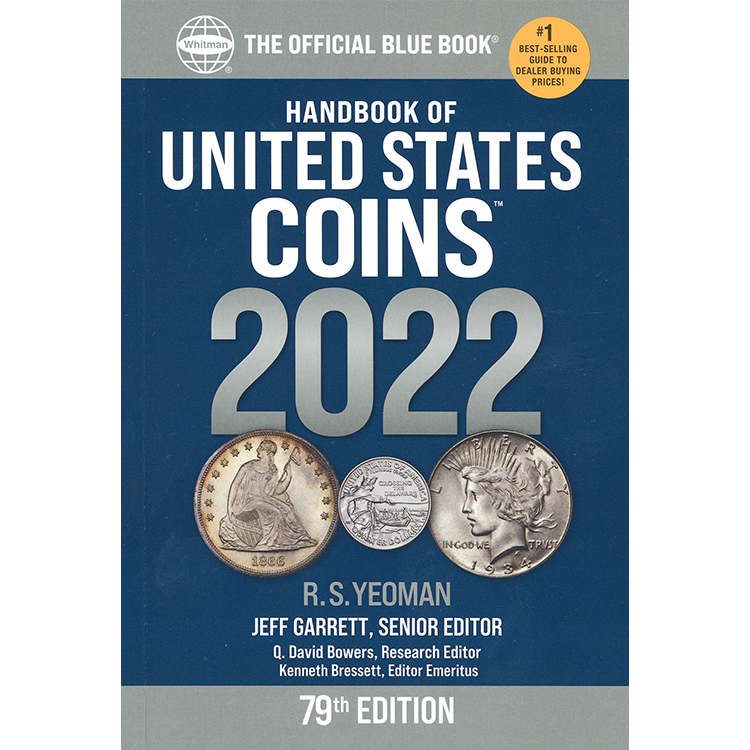THE OFFICIAL BLUE BOOK OF U.S. COINS 2022