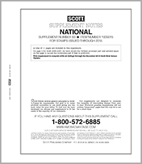 SCOTT UNITED STATES NATIONAL 2015 SUPPLEMENT #83 (13 PAGES)