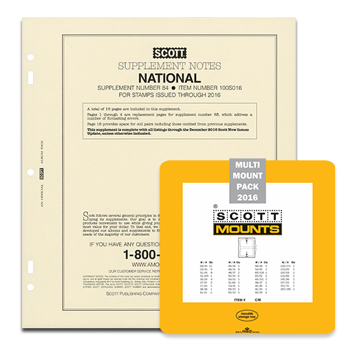2016 SCOTT U.S.  NATIONAL SUPPLEMENT + SCOTT MOUNT SET (CLEAR)