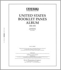 UNITED STATES BOOKLET PANES 1900-1993 (77 PAGES)