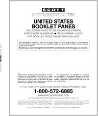 UNITED STATES BOOKLET PANES 2007 (15 PAGES) #69