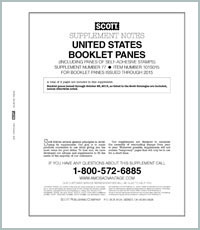 UNITED STATES BOOKLET PANES 2015 (3 PAGES) #77