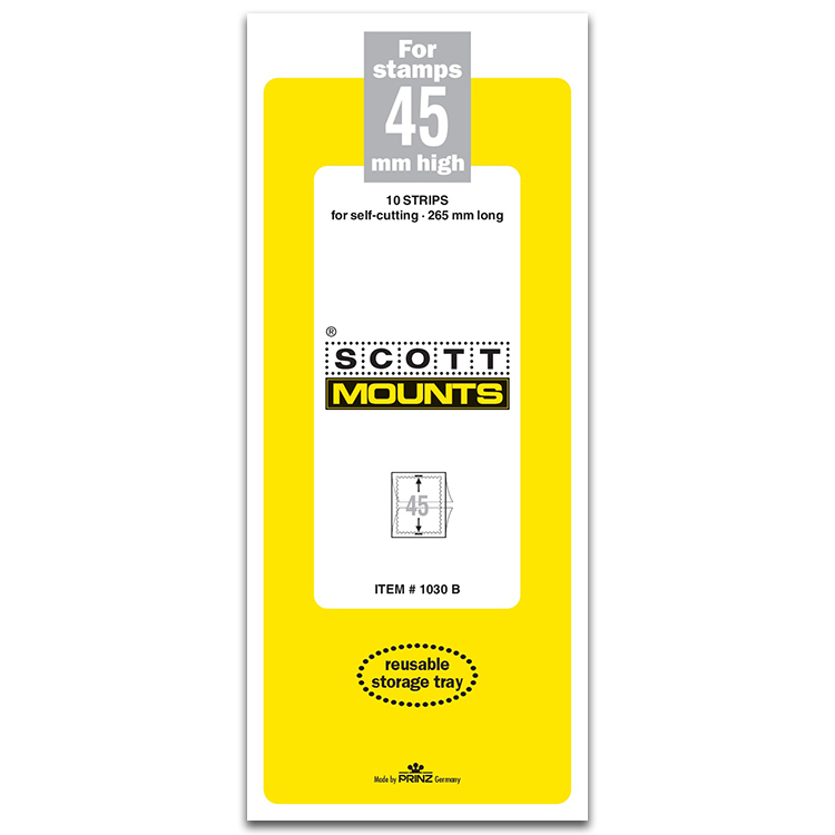 ScottMount 45x265 Stamp Mounts - Black