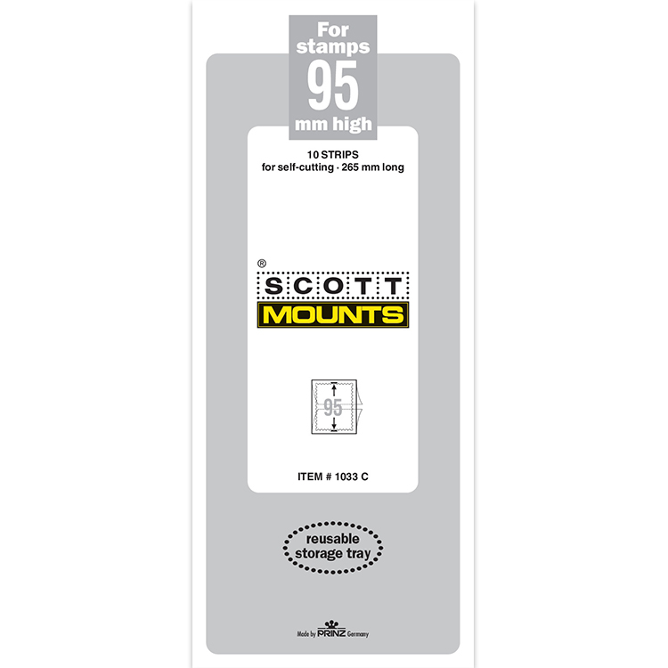 ScottMount 95x265 Stamp Mounts - Clear