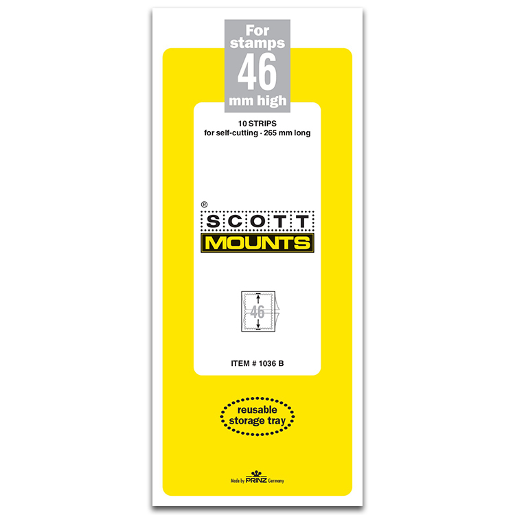 ScottMount 46x265 Stamp Mounts - Black