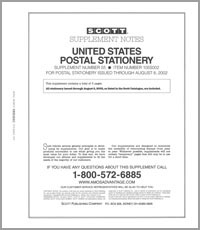 UNITED STATES POSTAL STATIONERY 2000-2002 (4 PAGES) #55