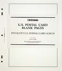 UNITED STATES POSTAL CARDS BLANK PAGES (20 PAGES)