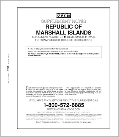 MARSHALL ISLANDS 2016 (16 PAGES) #31