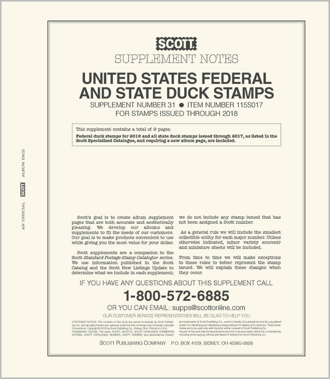 Scott US Hunting Permits (Duck) 2017 #31