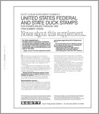 UNITED STATES HUNTING PERMITS (DUCK) 1992 (21 PAGES) #6