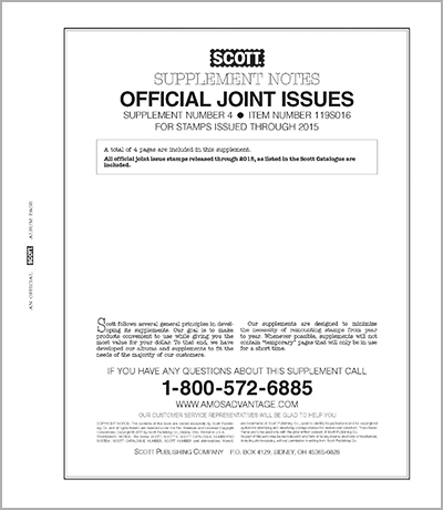 UNITED STATES JOINT ISSUES 2016 (5 PAGES) #4