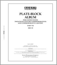 UNITED STATES COMMEMORATIVE PLATE BLOCKS 1989-1995 (77 PAGES)