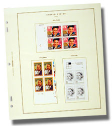 UNITED STATES COMMEMORATIVE PLATE BLOCKS 1996-2000 (59 PAGES)