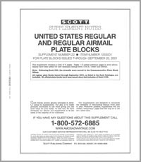 UNITED STATES REGULAR PLATE BLOCKS 1999-2001 (9 PAGES) #22