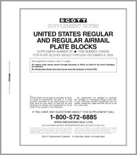 UNITED STATES REGULAR PLATE BLOCKS 2004-05 (4 PAGES) #25