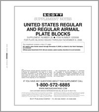 UNITED STATES REGULAR PLATE BLOCKS 2006 (4 PAGES) #26