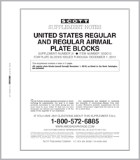 U.S. REGULAR & REG. AIR PLATE BLOCKS 2012 (6 PAGES) #31