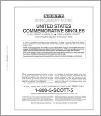 UNITED STATES COMMEMORATIVE SINGLES 2000 (16 PAGES) #30