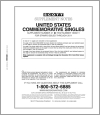UNITED STATES COMMEMORATIVE SINGLES 2011 (12 PAGES) #41