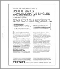 UNITED STATES COMMEMORATIVE SINGLES 1992 (14 PAGES) #22