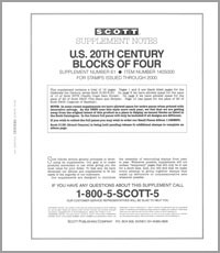 UNITED STATES 20TH CENTURY BLOCK OF FOUR 2000 (14 PAGES) #61