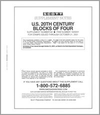 UNITED STATES 20TH CENTURY BLOCK OF FOUR 2001 (12 PAGES) #62