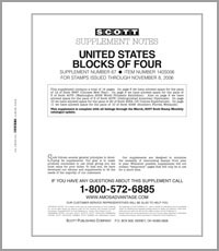 UNITED STATES BLOCKS OF FOUR 2006 (15 PAGES) #67