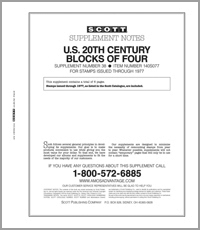 UNITED STATES 20TH CENTURY BLOCK OF FOUR 1977 #38 (7 PAGES)