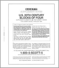 UNITED STATES 20TH CENTURY BLOCK OF FOUR 1994 (15 PAGES) #55