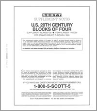 UNITED STATES 20TH CENTURY BLOCK OF FOUR 1995 (16 PAGES) #56