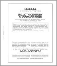 UNITED STATES 20TH CENTURY BLOCK OF FOUR 1997 (12 PAGES) #58