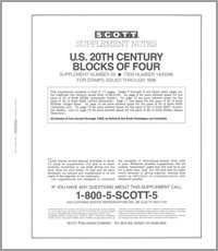 UNITED STATES 20TH CENTURY BLOCK OF FOUR 1998 (18 PAGES) #59