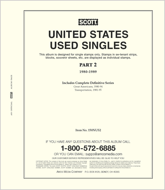 Scott United States National Used Singles Part 2 (1980-1989)