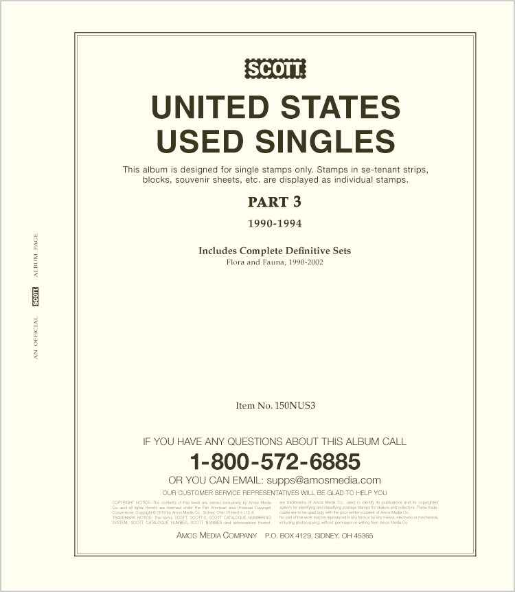 Scott United States National Used Singles Part 3 (1990-1994)