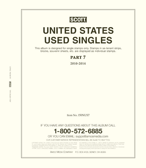 Scott United States National Used Singles Part 7 (2010-2014)
