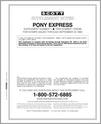 UNITED STATES PONY EXPRESS 1989 #1