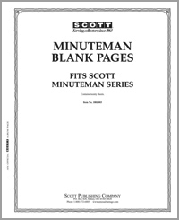 BLANK PAGES MINUTEMAN BORDER (5-HOLE) (PACK OF 20 PAGES)