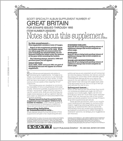 GREAT BRITAIN 1993 (6 PAGES) #47