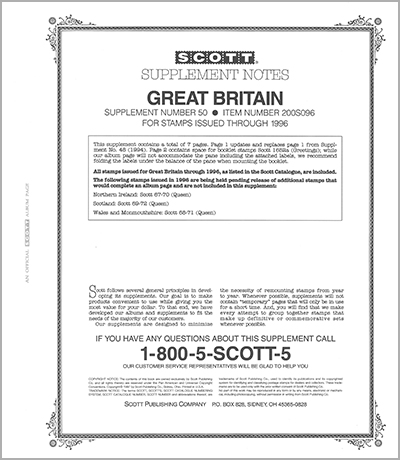 GREAT BRITAIN 1996 (8 PAGES) #50