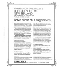 NEW ZEALAND DEPENDENCIES 1989 #43 (14 PAGES)