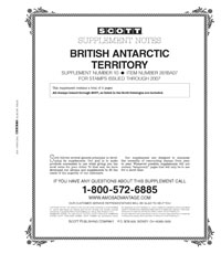 BRITISH ANTARCTIC 2007 (3 PAGES) #10