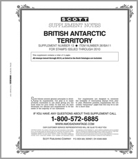 BRITISH ANTARCTIC 2011 (5 PAGES) #13