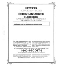 BRITISH ANTARCTIC 1997 (4 PAGES) #2