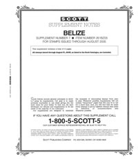 BELIZE 2004-2005 (3 PAGES) #7