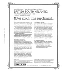 BRITISH S.ATLANTIC 1990  #5 (5 PAGES)