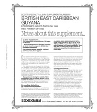 GUYANA 1993 (BRITISH EAST CARIBBEAN #8) (39 PAGES)