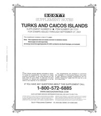 TURKS & CAICOS 2001 (5 PAGES) #6