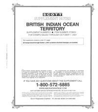 BRITISH INDIAN OCEAN 2001 (4 PAGES) #5